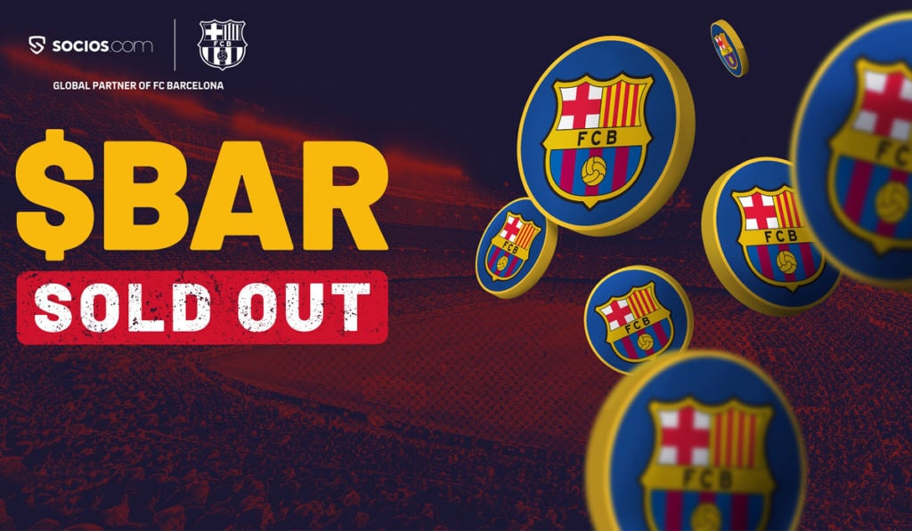 FC Barcelona BAR tokens sold out