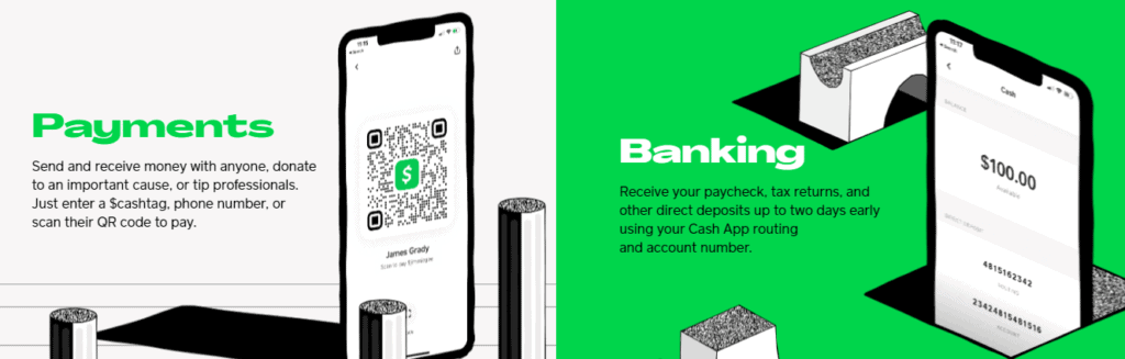 Cash app has many functions as banking or payments