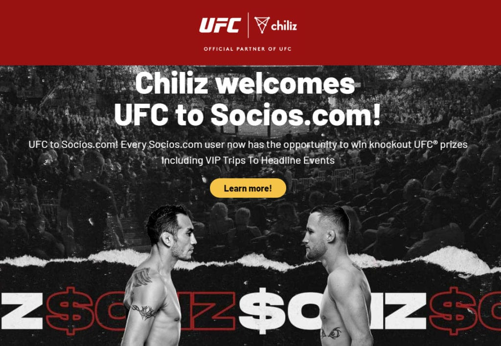 Chiliz partner ship official with UFC on fan token