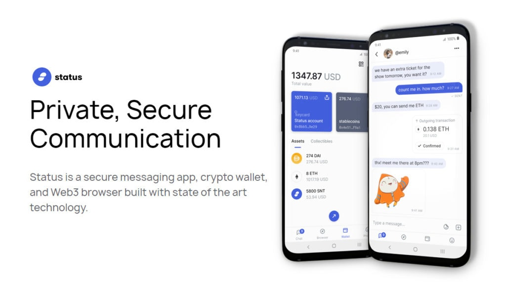 Status app integrate with Keycard crypto wallet