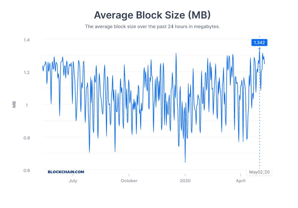 Bitcoin block size before halving
